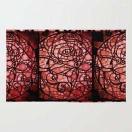 Scarred Rose Rug