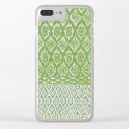 painterly diamonds in washed out lime Clear iPhone Case