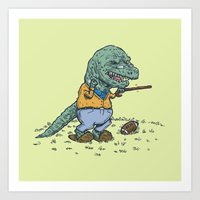 Geriatricasaur Art Print