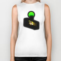 subway Biker Tanks featuring Subway by Jack O'Dowd