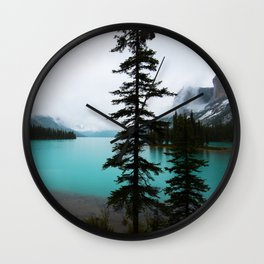 Maligne Lake  Landscape Photography Wall Clock