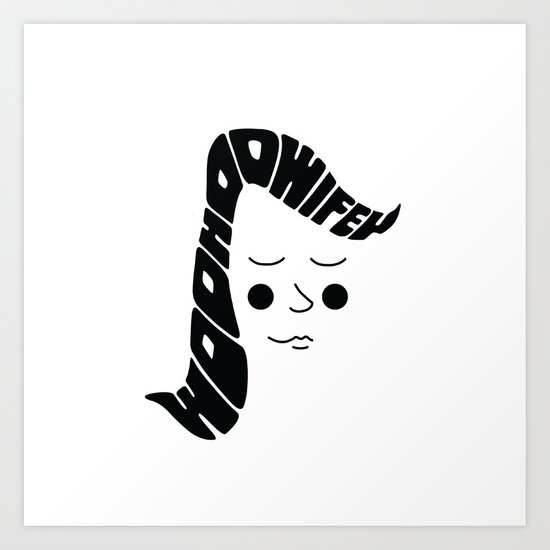Woohoo Wifey Art Print