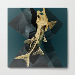 Catch the golden fish Metal Print