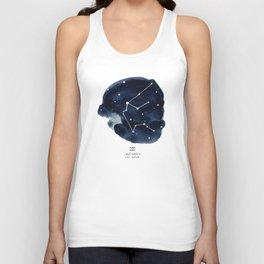 Zodiac Star Constellation - Aquarius Unisex Tank Top