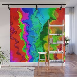 Vibrant Marble Texture No3 - Rainbow Spectrum Wall Mural
