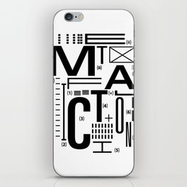 METAL FICTION iPhone Skin
