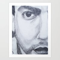 dave matthews Art Prints featuring Dave Matthews drawing by shelbmcintyre