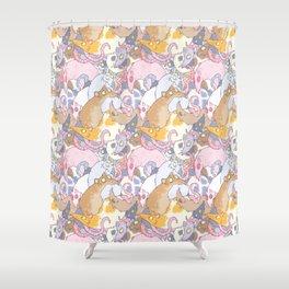 Fancy Rat Pattern Shower Curtain