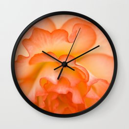 Creamsicle Begonia - Vertical Wall Clock