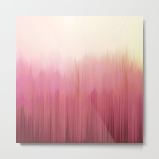 Soft Pink Woods Metal Print