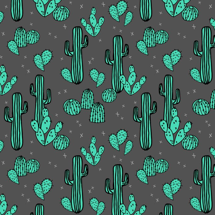 Prickly Pear - Charcoal by Andrea Lauren Comforters