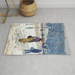 Frederick Childe Hassam - New York Street - Digital Remastered Edition Rug