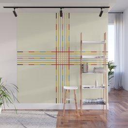 Fine Line Colorful Retro Cross Wall Mural