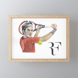Roger Federer Tennis Framed Mini Art Print