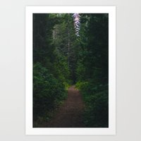 hiking Art Prints featuring Hiking by Milli Vedder