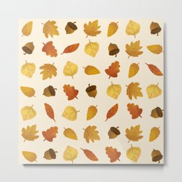Leaf Lovers in Whipped Cream Metal Print