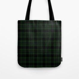 Plaid (Dark green) Tote Bag
