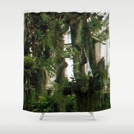 Green Haze Shower Curtain