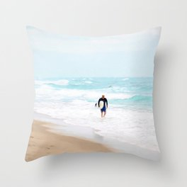 Surfer Defeat Throw Pillow