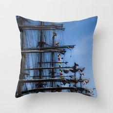 Tall ships Throw Pillow