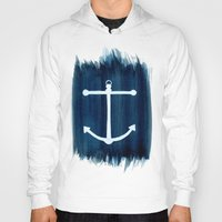 anchor Hoodies featuring Anchor by Bridget Davidson