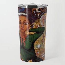 Classical Masterpiece 'Self-Portrait by Rosa Rolanda Travel Mug