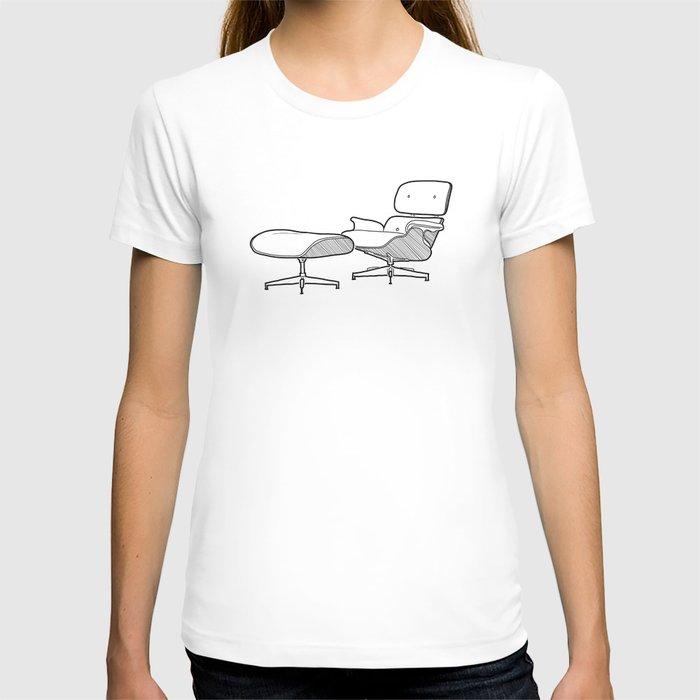 Mid-century - Eames Lounge Chair Sketch (B) T-shirt