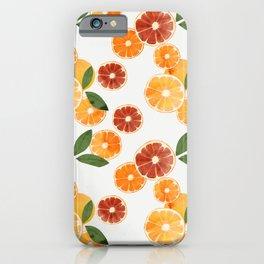 sliced oranges spring watercolor iPhone Case