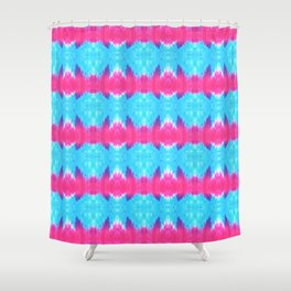 Summer Vibes Tie Dye in Pink Turquoise Shower Curtain
