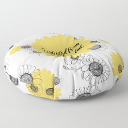 For no word from God will ever fail, Luke 1:37, Bible Verse Floor Pillow