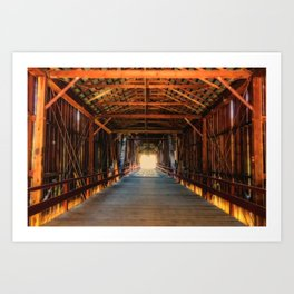 Into the Light Honey Run Bridge Art Print