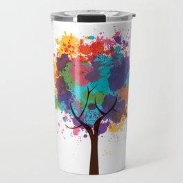 Colorful Tree Travel Mug