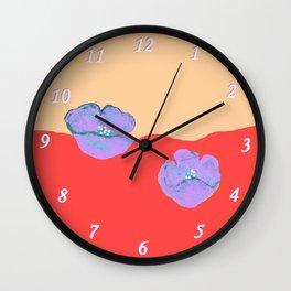 Purples poppies S44 Wall Clock