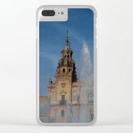 plaza de España Clear iPhone Case