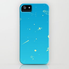 Outer Space Poster (Blue) iPhone Case