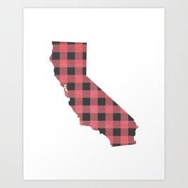 California Plaid in Pink Art Print