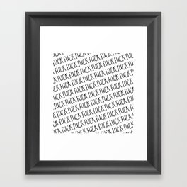 Fuck II Framed Art Print