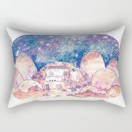 The House in the Desert Rectangular Pillow
