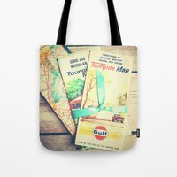 explore Tote Bags featuring Explore by Olivia Joy St.Claire - Modern Nature / T