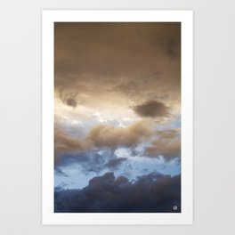 New Mexico sunset 2 (July 2014) Art Print