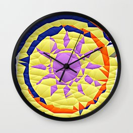Colorful Quilted sun pattern Abstract Wall Clock