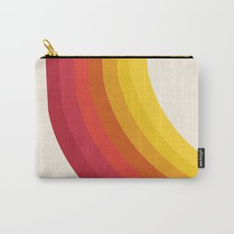 4-Sho - retro 70s style throwback vibes 1970's trendy decor art minimalist rainbow stripes Carry-All Pouch