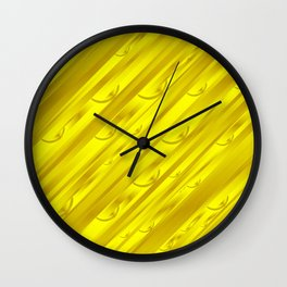 yellow abstract pattern in metal Wall Clock