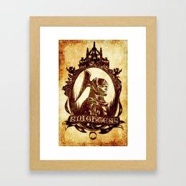 Cameo - Darkmoon Knightess Framed Art Print