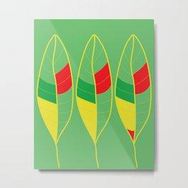 Nature Colorful Leaves Metal Print