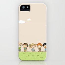 Spring! Karasuno 1st Years iPhone Case