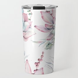 Pretty Pastel Succulents Garden 1 Travel Mug