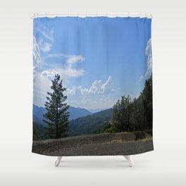 Gorgeous view of the Hayfork valley.... Shower Curtain
