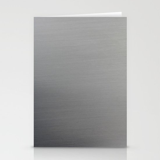Brushed Metal Stationery Cards