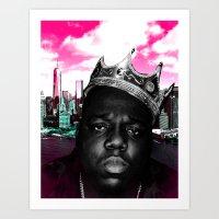 big poppa Art Prints featuring Big Poppa Still King by TallRob Design
